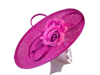 Deep Fushia Pink Disc hat by Whiteley 618/838