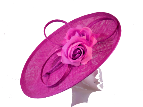 Deep Fushia Pink Disc hat by Whiteley 618/838