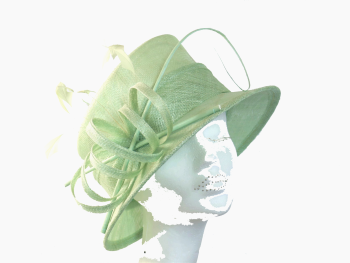 Pale Mint Green hat by Maddox H22
