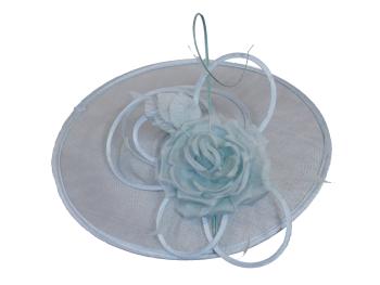 Aqua blue disc hat by Maddox H12