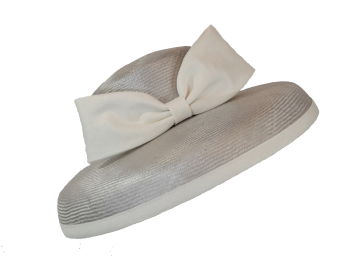 Silver Pearl Grey and Ivory Hat by Whiteley 139/105