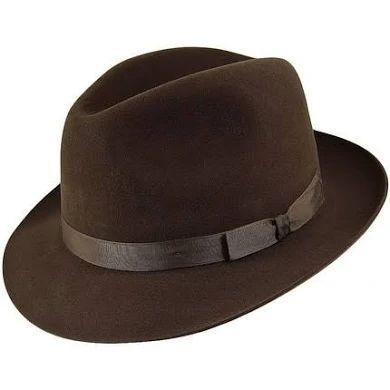 Christy's Epsom Racing Quality Felt Trilby SABLE