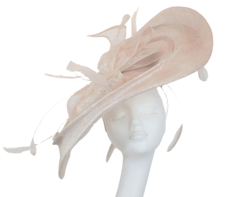 Nude champagne          EXTRA Large 'S' shaped saucer disc BD8