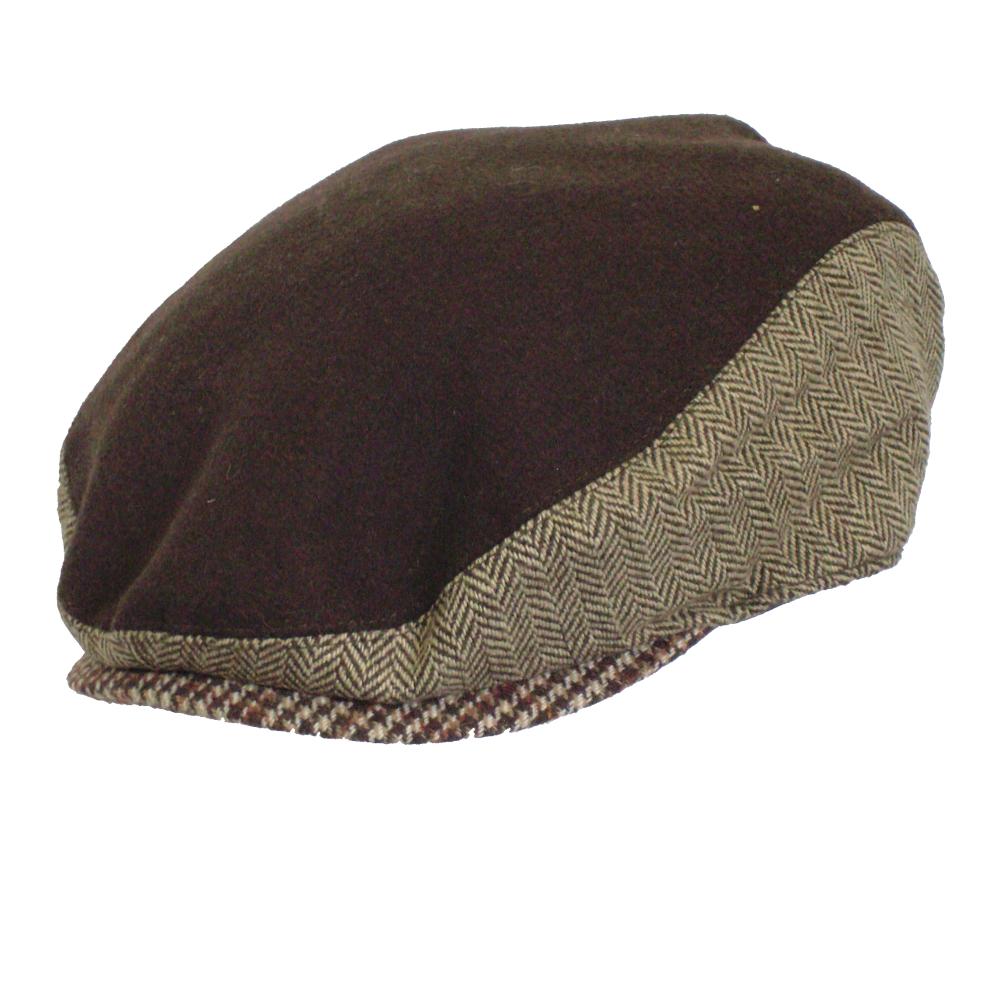 Andy cap- Lightweight wool & tweed blends BROWN