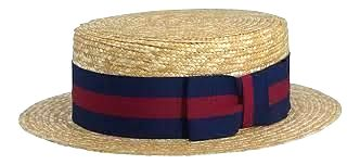 Lightweight British made Boater with Guards band