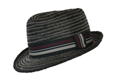 Whiteley Mens Straw Summer Trilby Black