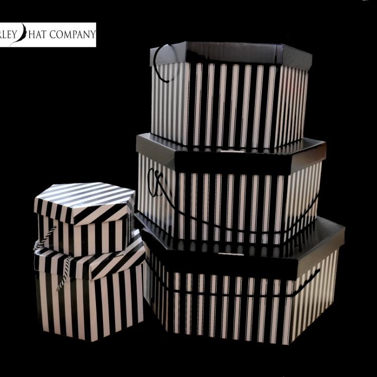 Striped Hat Boxes