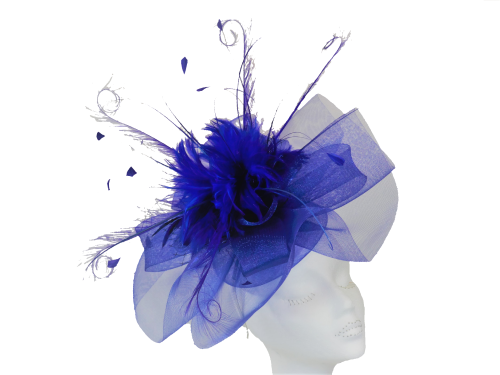 Royal Blue crin headpiece hattinator ANN-034