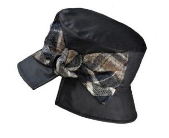 Kate waxed cotton rain hat by Olney