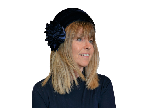 Navy velvet halo headband ZF5