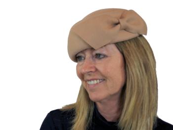 Felt beret by Whiteley in Camel, Navy or Black 567/230