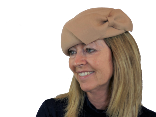 Felt beret by Whiteley in Camel, Navy or Black 567/230