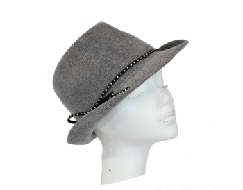 Ladies chenille trilby grey or black OS-167