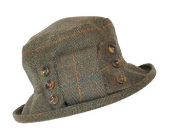 British made ladies tweed hat ClaraSB