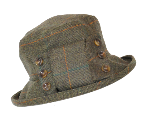 British made ladies tweed hat ClaraSB