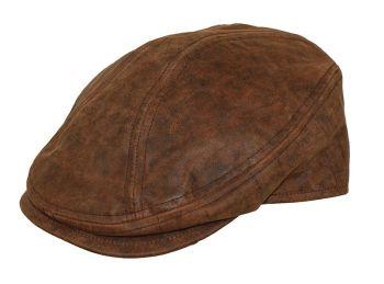 Austin distressed leather cap