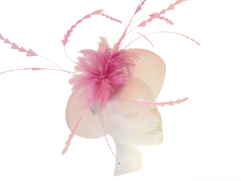 Pink crin with chevron cut feathers by Snoxell SNX-887