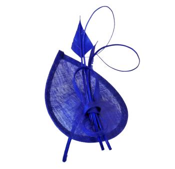 Cobalt teardop shaped fascinator WM-F95