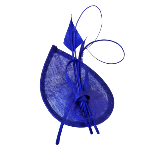 Cobalt teardop shaped fascinator WM-F95