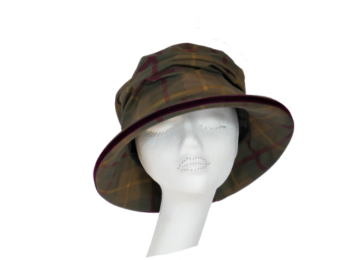 Bonnie Olive waxed cotton rainhat
