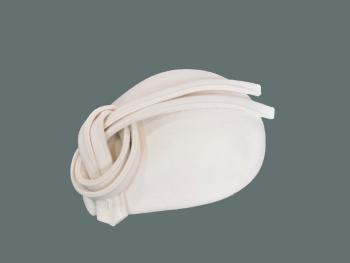 Winter White wool felt teardrop shaped pill JBW-64