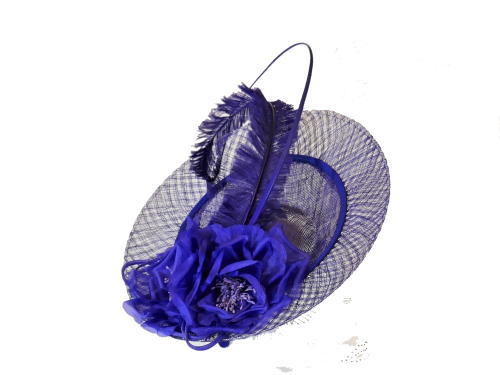 Cobalt blue inverted disc hat FM-8036