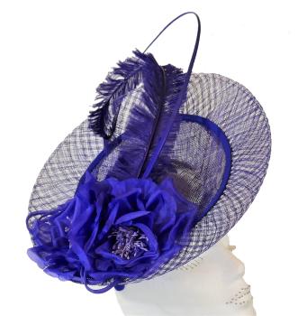 Cobalt blue inverted disc hat FM-8036