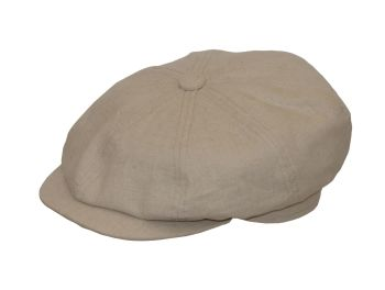 8 piece Linen Gatsby Summer Cap 'Peaky Blinders' style