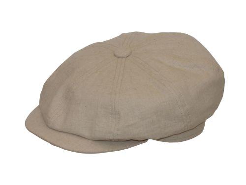 Linen 8 piece Gatsby Summer Cap