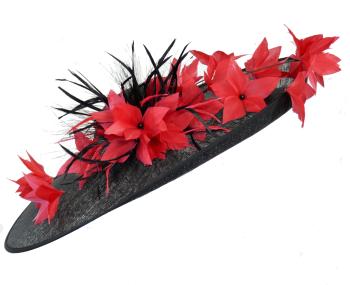 Large Black & Red Disc Hat JB20/191