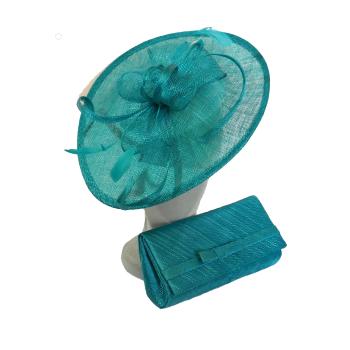 Teardrop shaped disc and matching clutchbag Sea Green Lagoon AD1