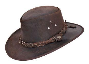 Aussie Stressed Leather all weather hat - Brisbane