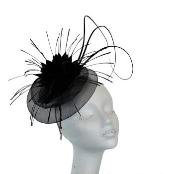 Black Crin fascinator OS-441