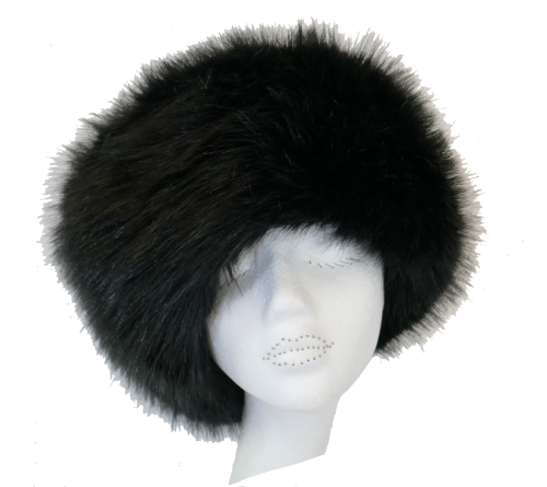 Luxury Faux fur Cossack style hat by Whiteley - BLACK WHC-900/002