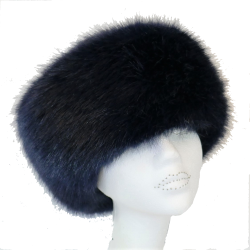 Luxury Faux fur Cossack style hat by Whiteley - NAVY  WHC-900/002