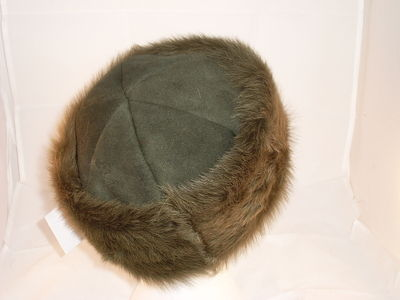 Ladies Toscana Sheepskin hat - Loden 6 pc crown