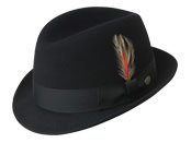 Gents Black Wool Trilby