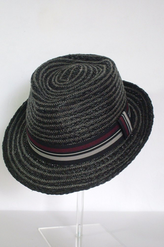 Whiteley Mens Raffia Summer Trilby Black