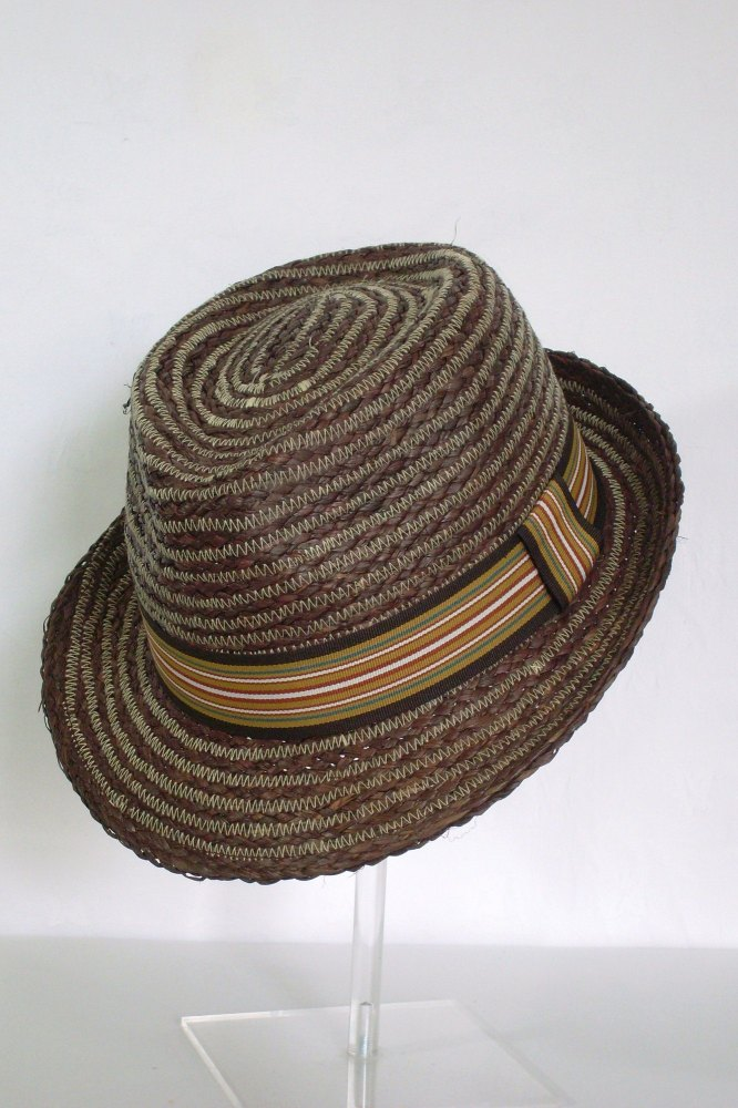 Whiteley Mens Raffia Summer Trilby Havana
