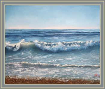 'A Walk on the Beach' - Step by Step Seascape Class on Live Stream or DVD