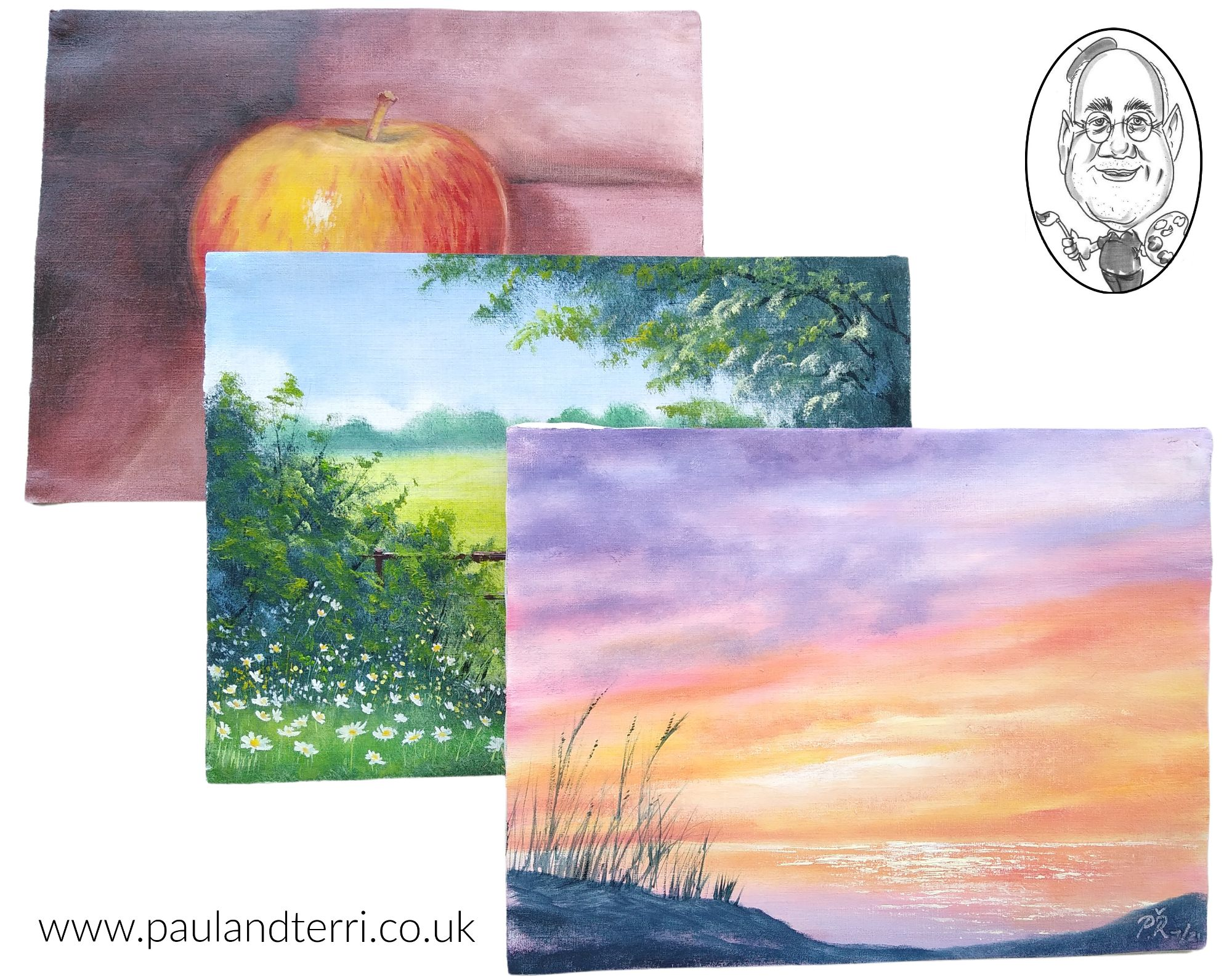 Learn to Paint in Oils Three Starter Paintings