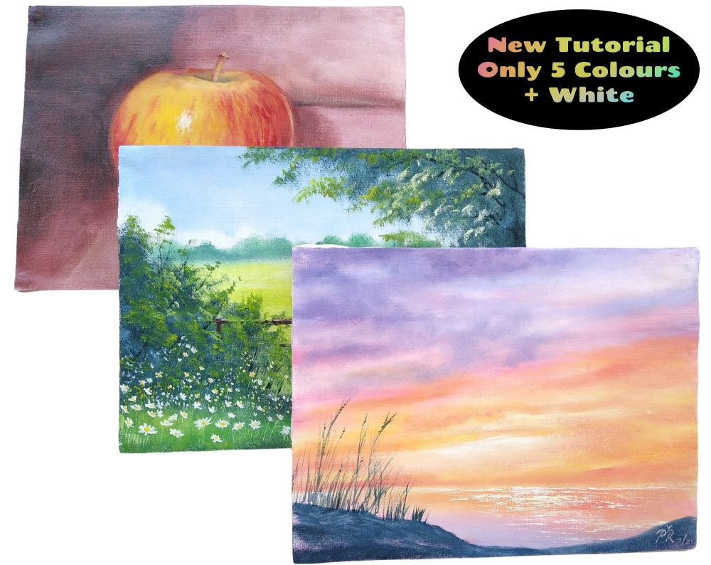 Learn to Paint in Oils - Only Five Colours Step by Step Tutorial