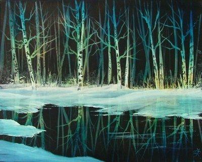 'Birch Reflections'