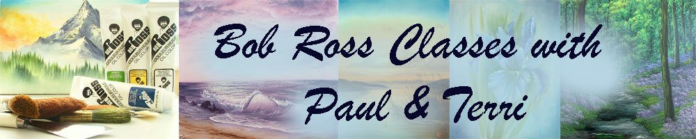 Bob Ross Classes with Paul & Terri, site logo.