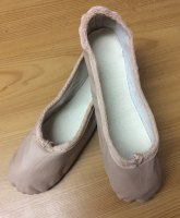 Leather ballet shoes sizes small 5 - large 4.5