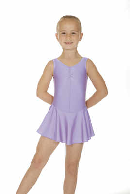 Sleeveless skirted leotard