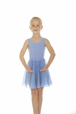 ISTD sky blue cotton leotard