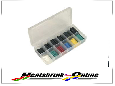 180 Piece Boxed Black & Coloured Heatshrink Assortment Kit 2:1 Shrink Ratio