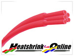 <!-- 015 -->Red Heatshrink 2:1 Ratio
