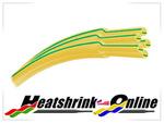 <!-- 010 -->Earth Green/Yellow Heatshrink 2:1 Rati